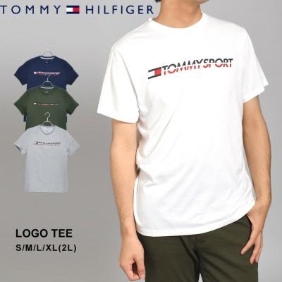 トミーヒルフィガー TOMMY HILFIGER 半袖Tシャツ ロゴTシャツ S20S20005 メンズ tシャツ トップス 半袖 スポーツ 人気 おしゃれ ロゴ カジュアル シンプル 白 ホワイト