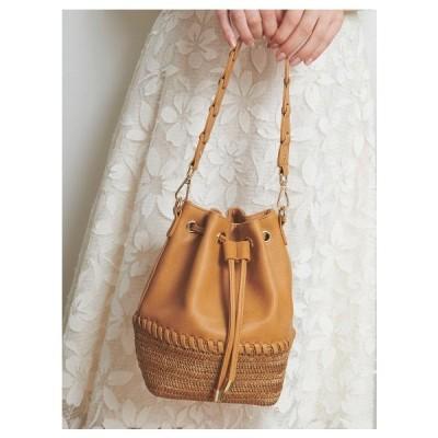 Noela(ノエラ)異素材コンビ巾着BAG