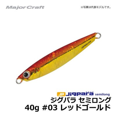 メジャークラフト ジグパラ・セミロング 40g レッドゴールド