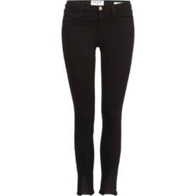フレーム Frame レディース ジーンズ・デニム スキニー ボトムス・パンツ High Rise Split Front Skinny Jeans In Film Noir Black