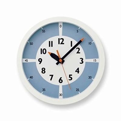 レムノス 掛け時計 キッズ 知育 ふんぷんクロック ウィズ カラー ! アナログ 青 YD15-01 LBL Lemnos