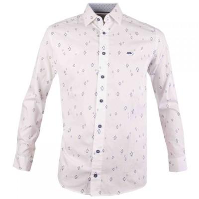 ダブルTWO Double Two メンズ シャツ トップス Penguin Print Casual Shirt White