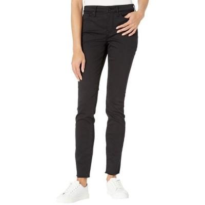 エヌワイディージェイ レディース デニムパンツ ボトムス Alina Legging Jeans with Fray Hem in Black