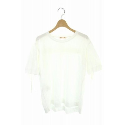 【中古】マルニ MARNI 17SS カットソー Tシャツ 半袖 バックデザイン 38 白 ホワイト /ES ■OS レディース 【ベクトル 古着】