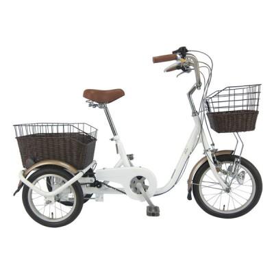 SWING CHARLIE MG-TRE16G ホワイト [ロータイプ三輪自転車(16/14インチ)] シティサイクル