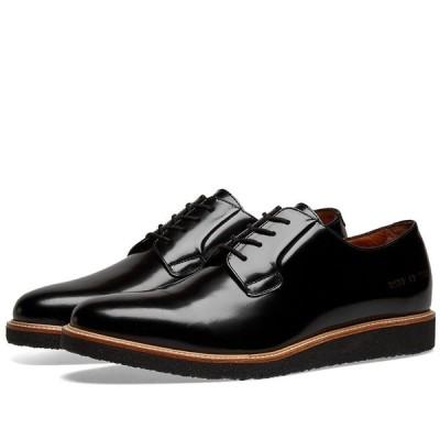 コモン プロジェクト Common Projects メンズ 革靴・ビジネスシューズ ダービーシューズ シューズ・靴 Derby Shine Black