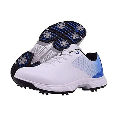 vibvib Men's Golf Shoes Professional Spike Golf Sneakers Waterproof Men's T