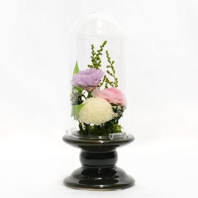 Lulu's ルルズ 雫 仏花 供花 プリザーブドフラワー お供え メモリアルフラワー お彼岸 サイズ:直径7cm×高さ17cm 雫 Lul