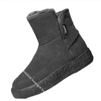 冬靴 メンズ スノーブーツ スエード 厚底 保温 冬用靴 暖かく保つ 厚手 裏起毛 ボア 綿靴 防寒靴 撥水 歩きやすい 防臭 ハイカット
