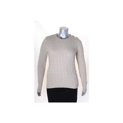 チャータークラブ セーター ニット Charter Club Beige メタリック 長袖 クルーネック セーター L MSRP 59 LAFO