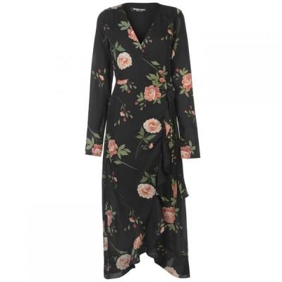 ファッションユニオン Fashion Union レディース ワンピース ラップドレス ミドル丈 ワンピース・ドレス Fashion Tino Wrap Midi Dress OCCASION PRINT