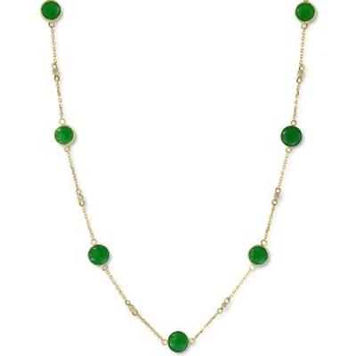 """エフィー コレクション レディース ネックレス・チョーカー・ペンダントトップ アクセサリー EFFY® Dyed Jade 18"""" Collar Necklace i"""