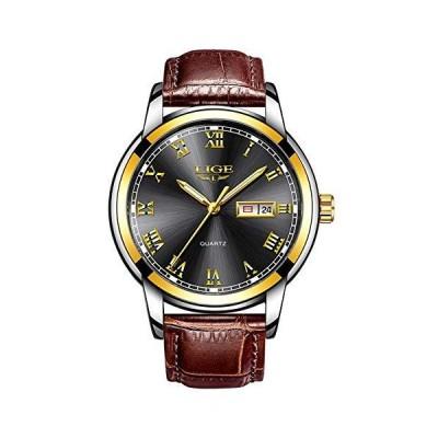 メンズ スポーツ クォーツ腕時計 ローマ数字 ファッション アナログ 夜光 カレンダー 日付 防水 30m 防水