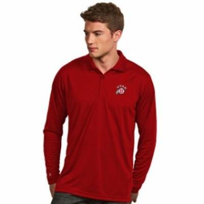 Antigua アンティグア スポーツ用品  Antigua Utah Utes Red Exceed Long Sleeve Polo