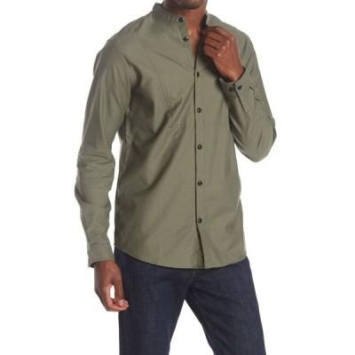 セレクテッドオム メンズ シャツ トップス Peter Banded Collar Regular Fit Shirt BEETLE