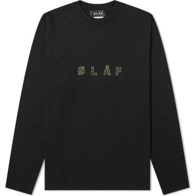 オラフハンセン Olaf Hussein メンズ 長袖Tシャツ トップス Long Sleeve OLAF Stems Tee Black