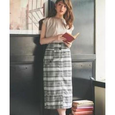 Noela【美人百花・Ray10月号/andGIRL9月号掲載】キルティングタイトスカート