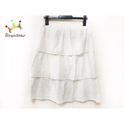 エムズグレイシー M'S GRACY スカート サイズ38 M レディース 白 ティアード 新着 20200626