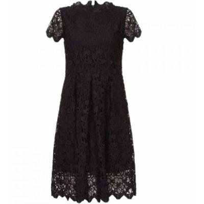 ユミ Yumi Curves レディース ワンピース ワンピース・ドレス Guipure Lace Dress Black
