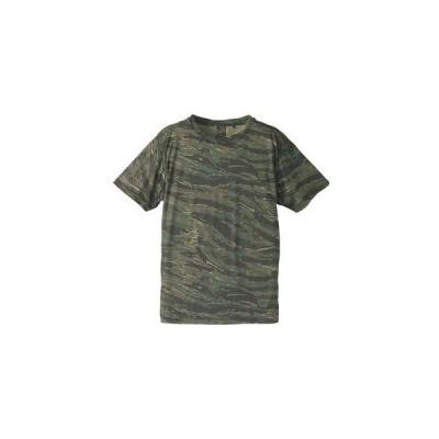 自衛隊海外派遣使用・立体裁断・吸汗速乾さらさらドライ 迷彩 Tシャツ タイガー