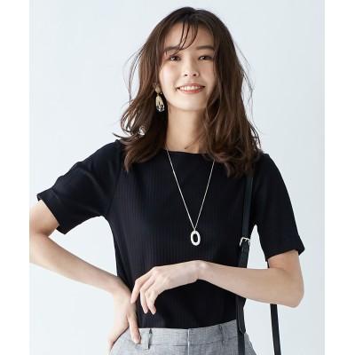 【WEB限定色あり】コットンリブスムース クルーネックTシャツ