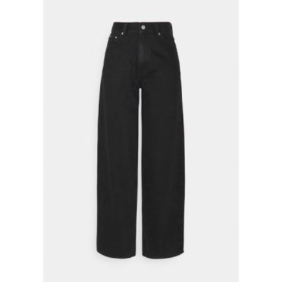 ウィークデイ デニムパンツ レディース ボトムス RAIL  - Relaxed fit jeans - almost black