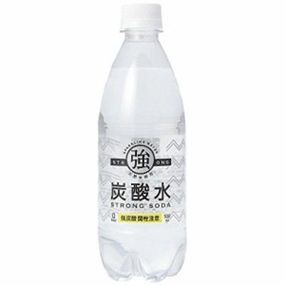友桝飲料 強炭酸水 プレーン 天然水使用 STRONG SODA 500ml*24本