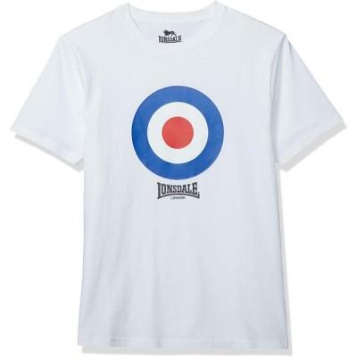 [ロンズデール] Tシャツ ターゲットマーク フォトプリント 半袖 コットン メンズ ホワイト 日本 LL (日本サイズXL相当)