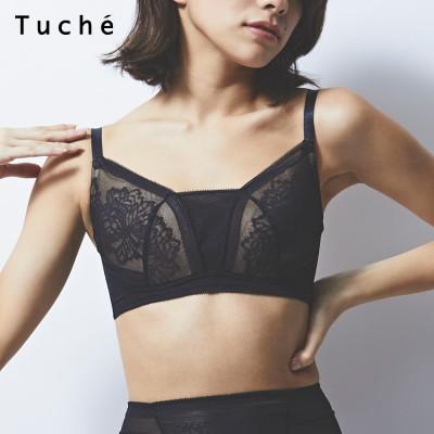 GUNZE グンゼ Tuche 胸をちいさく見せるブラ(レディース) ブラック L