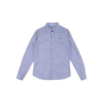 ARMANI JUNIOR シャツ ブルー 14 コットン 100% シャツ