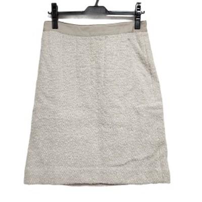 ドゥロワー Drawer スカート サイズ40 M レディース 美品 - アイボリー ひざ丈【中古】20210401