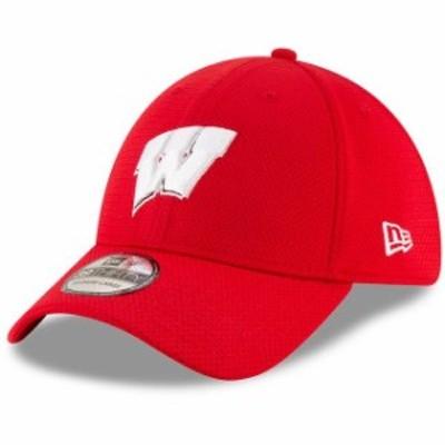 New Era ニュー エラ スポーツ用品  New Era Wisconsin Badgers Red Basic 39THIRTY Flex Hat