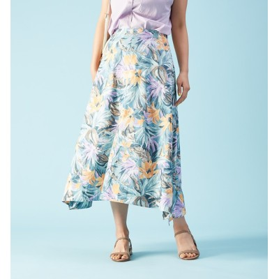 【ルージュ・ヴィフ ラクレ/Rouge vif la cle】 フラワープリントスカート