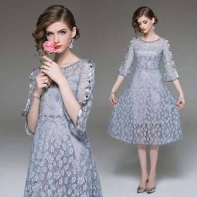 パーティードレス 結婚式 二次会 ワンピース 結婚式 お呼ばれドレス ドレス 結婚式 お呼ばれ レース ワンピース レース ドレス パーティ