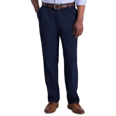 ハガー メンズ カジュアルパンツ ボトムス Men's Iron Free Premium Khaki Classic-Fit Pleated Pant