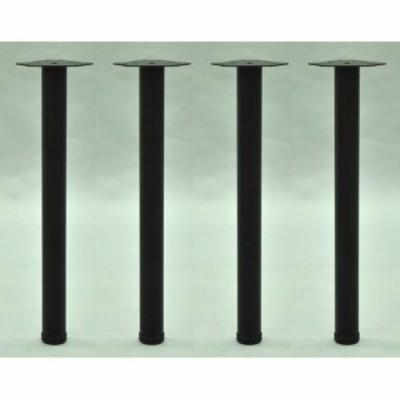 エイ・アイ・エス テーブル脚4本セット TL-01BKx4 ブラック 脚直径6cm高さ69.5cm