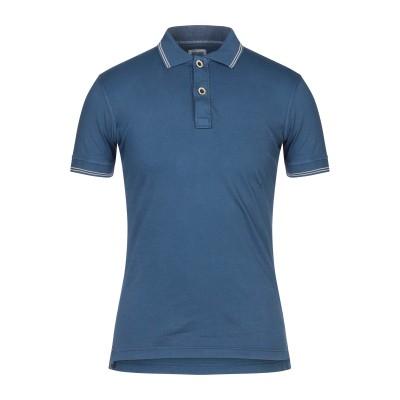 DOMENICO TAGLIENTE ポロシャツ ダークブルー S コットン 95% / ポリウレタン 5% ポロシャツ