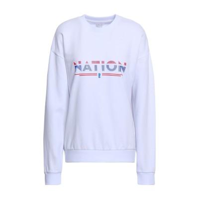 P.E NATION スウェットシャツ ホワイト S コットン 100% スウェットシャツ