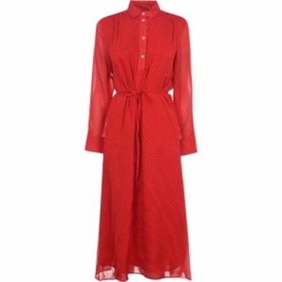 ガント Gant レディース ワンピース ワンピース・ドレス Dot Chiffon Dress Bright Red