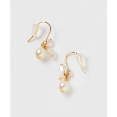 TONE / 【aco* beads accessory】スワロフスキーとスワロフスキーパールの揺れるプチピアス WOMEN アクセサリー > ピアス(両耳用)