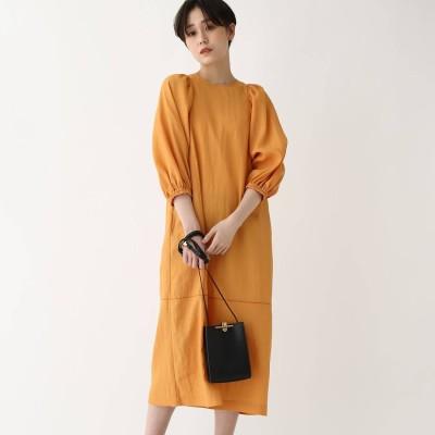 ドレステリア DRESSTERIOR 【洗える】ボリュームスリーブワンピース (オレンジ)