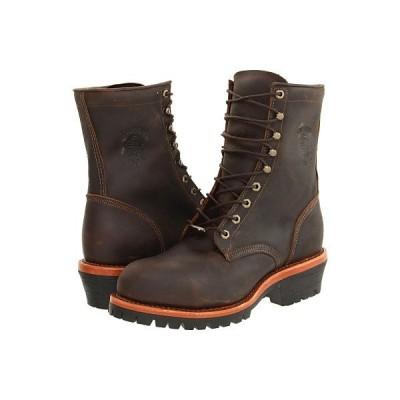 チペワ ブーツ&レインブーツ メンズ Apache Steel Toe Logger Chocolate