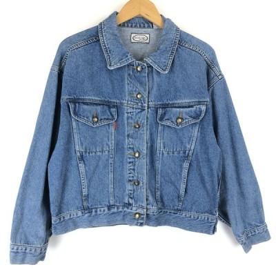 【古着】 BUGLE BOY by her デニムジャケット ビッグサイズ ブルー系 レディースM 【中古】 n013502