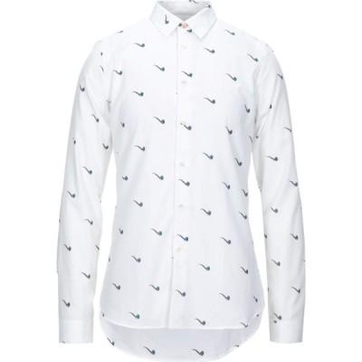 ポールスミス PS PAUL SMITH メンズ シャツ トップス patterned shirt White