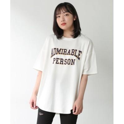 (Honeys/ハニーズ)カレッジロゴTシャツ/レディース ホワイト