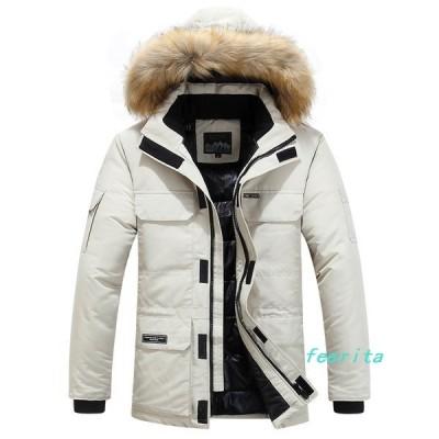 中綿ジャケットメンズ防寒着厚手ジャケットアウター無地大きいサイズカジュアル中綿コートブルゾンあったかお兄系冬物防風防寒フード付き