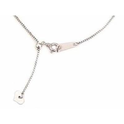 ネックレスホワイトゴールド チェーン レディース 長さの調整可能 18金 地金ネックレス 女性用  プレゼント 送料無料