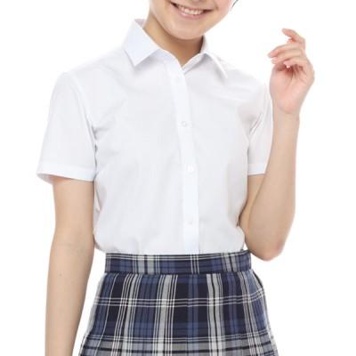 レディース 婦人 スクール半袖シャツ ホワイト S