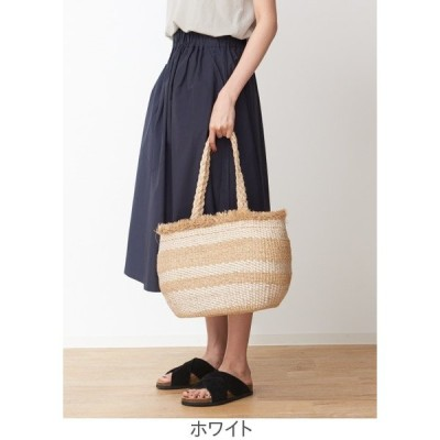 collex ABACA ボーダーかごバック OUTLET (Ladie's) アウトレット (レディース)