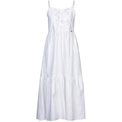 SARAH CHOLE for BAD GIRL ロングワンピース&ドレス ホワイト L コットン 100% ロングワンピース&ドレス